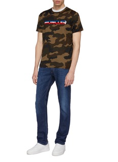 Moncler Rubberised logo patch camouflage print T-shirt