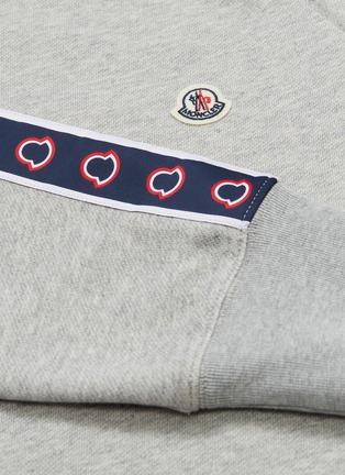 - MONCLER - 'Maglia' logo stripe sleeve sweatshirt