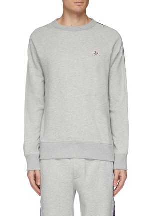 Main View - Click To Enlarge - MONCLER - 'Maglia' logo stripe sleeve sweatshirt