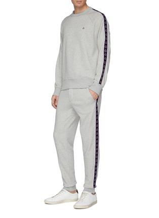 Figure View - Click To Enlarge - MONCLER - 'Maglia' logo stripe sleeve sweatshirt