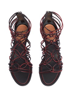 Alaïa Knotted strappy leather sandals