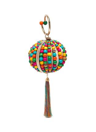 Detail View - Click To Enlarge - ROSANTICA - 'Billie Sphere' tassle ring handle bead bag