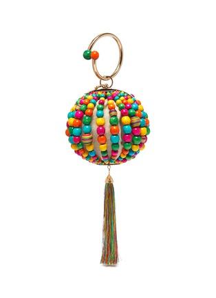 Main View - Click To Enlarge - ROSANTICA - 'Billie Sphere' tassle ring handle bead bag
