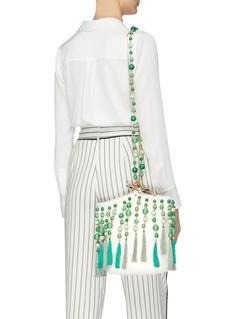 Rosantica 'Lexy' ring handle bead tassel bucket bag