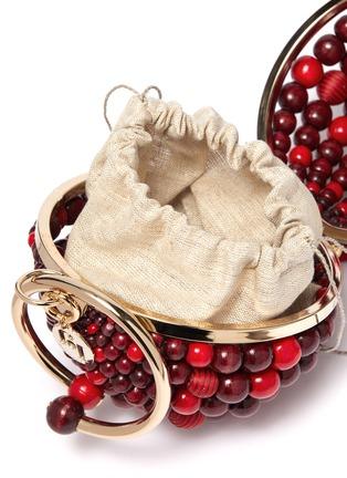 Detail View - Click To Enlarge - Rosantica - 'Billie Sphere' fringe drop ring handle beaded bag