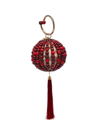 Main View - Click To Enlarge - ROSANTICA - 'Billie Sphere' fringe drop ring handle beaded bag