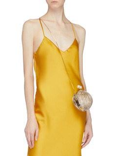 Rosantica 'Ruth' faux pearl glass crystal cage sphere clutch