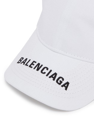 Detail View - Click To Enlarge - Balenciaga - 'Everyday' logo embroidered visor baseball cap