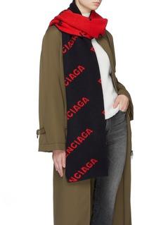 Balenciaga Logo jacquard scarf