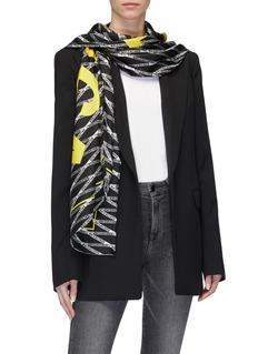 Balenciaga 'Monogram' logo print silk twill scarf