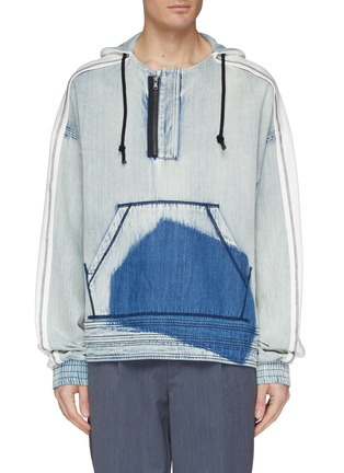 Main View - Click To Enlarge - INDICE STUDIO - 'Kujan' patchwork denim hoodie