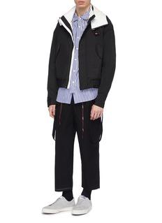 INDICE STUDIO Detachable hood windbreaker jacket
