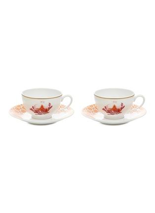 Main View - Click To Enlarge - Bernardaud - Imperial Eden tea cup and saucer set
