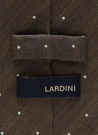 Detail View - Click To Enlarge - Lardini - Polka dot embroidered woven silk tie