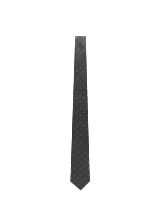 Figure View - Click To Enlarge - Lardini - Polka dot embroidered woven silk tie