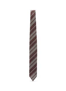 Lardini Stripe silk blend knit tie