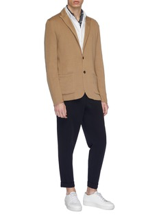 Lardini Peaked lapel cotton knit cardigan