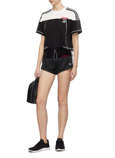 adidas Originals by Alexander Wang 'Disjoin' stripe outseam patchwork track shorts