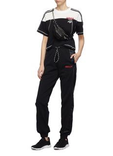 adidas Originals by Alexander Wang 'Disjoin' 3-Stripes sleeve logo print colourblock cropped top