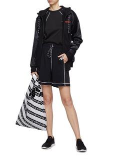 adidas Originals by Alexander Wang Contrast overlock stitching logo print shorts
