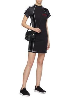adidas Originals by Alexander Wang 3-Stripes sleeve contrast topstitching T-shirt dress