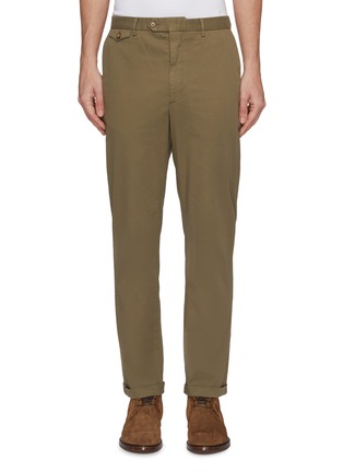 Main View - Click To Enlarge - Christian Kimber - Roll cuff garment dyed chinos