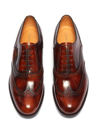 Detail View - Click To Enlarge - CHRISTIAN KIMBER - Patent leather brogue Oxfords