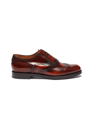 Main View - Click To Enlarge - CHRISTIAN KIMBER - Patent leather brogue Oxfords