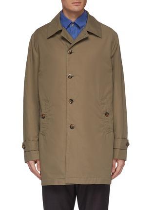 Main View - Click To Enlarge - Christian Kimber - Epaulette cuff raincoat