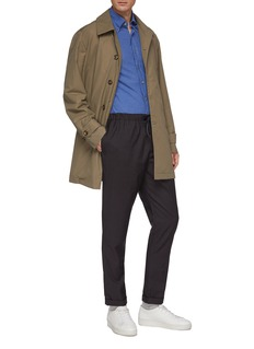 Christian Kimber Epaulette cuff raincoat