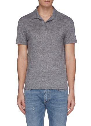 Main View - Click To Enlarge - CHRISTIAN KIMBER - Mélange knit polo shirt