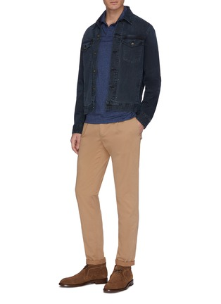 Figure View - Click To Enlarge - CHRISTIAN KIMBER - Mélange knit polo shirt