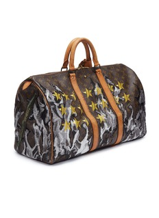 Jay Ahr Louis Vuitton Keepall 50 with weapons embroidery – RPG