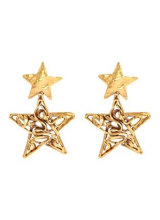 Main View - Click To Enlarge - Stazia Loren - Star drop clip earrings