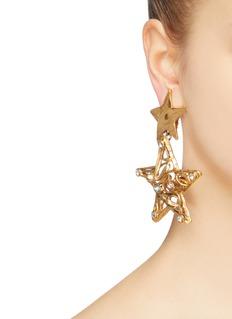 STAZIA LOREN Star drop clip earrings
