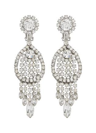 Main View - Click To Enlarge - STAZIA LOREN - Diamanté fringe drop clip earrings