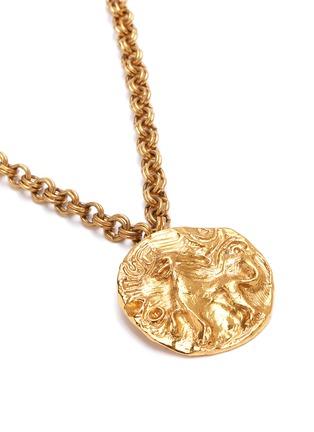 Detail View - Click To Enlarge - STAZIA LOREN - Lion medallion pendant necklace