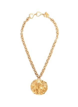 Main View - Click To Enlarge - STAZIA LOREN - Lion medallion pendant necklace