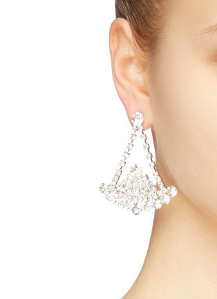 Figure View - Click To Enlarge - STAZIA LOREN - Diamanté drop earrings