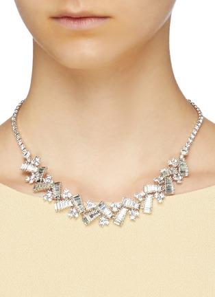 Figure View - Click To Enlarge - STAZIA LOREN - Diamanté geometric necklace