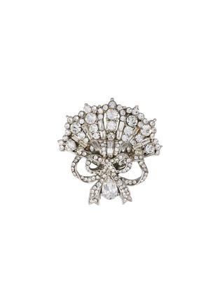 Main View - Click To Enlarge - STAZIA LOREN - Diamanté fan ribbon brooch