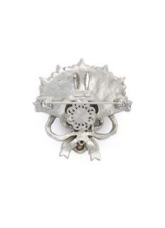STAZIA LOREN Diamanté fan ribbon brooch
