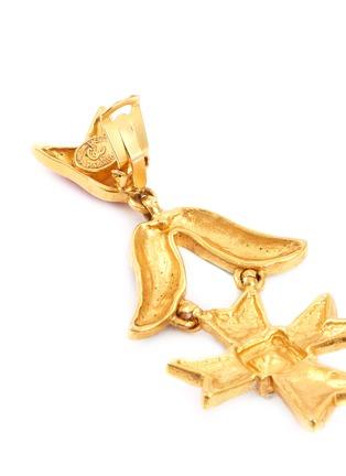 Detail View - Click To Enlarge - STAZIA LOREN - Geometric drop clip earrings