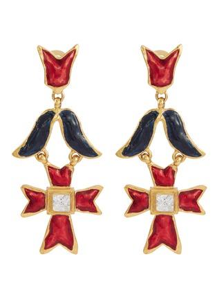 Main View - Click To Enlarge - STAZIA LOREN - Geometric drop clip earrings