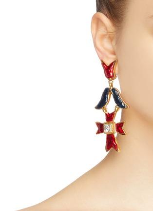 Figure View - Click To Enlarge - STAZIA LOREN - Geometric drop clip earrings