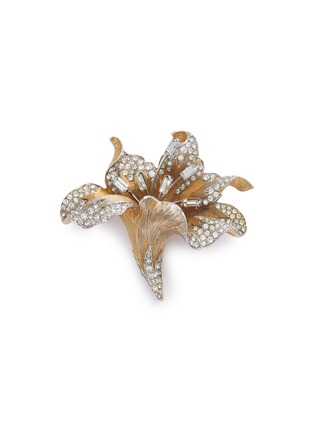 Main View - Click To Enlarge - STAZIA LOREN - Diamanté floral brooch