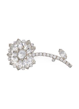 Main View - Click To Enlarge - STAZIA LOREN - Diamanté flora, brooch