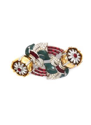 Main View - Click To Enlarge - STAZIA LOREN - Diamanté floral brooch