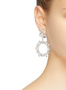 STAZIA LOREN Diamanté hoop drop clip earrings