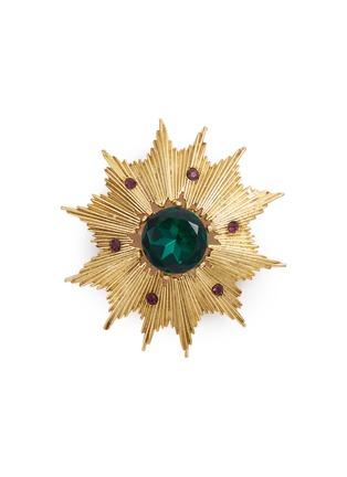 Main View - Click To Enlarge - STAZIA LOREN - Gemstone sunburst brooch